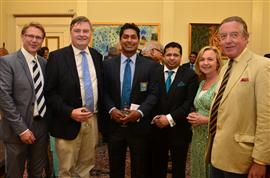 David Morris M.P, David Campbell Bannerman M.E.P, Kumar Sangakkara, H.E. Dr.Chris Nonis, Charlotte Milligan, David Goodson-Wickes